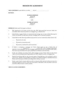 Professional Fee For Service Contract Template Word Example