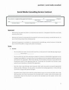 Professional Marketing Consultant Contract Template Doc Sample