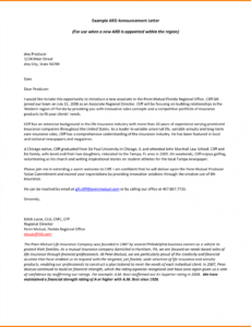 Real Estate Prospecting Letter Template Excel