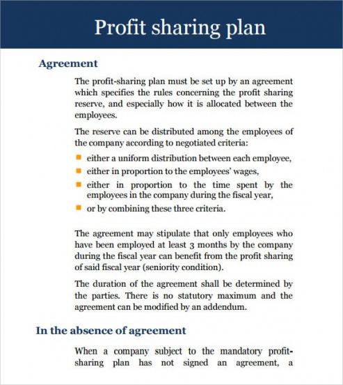 Revenue Sharing Contract Template Word Example