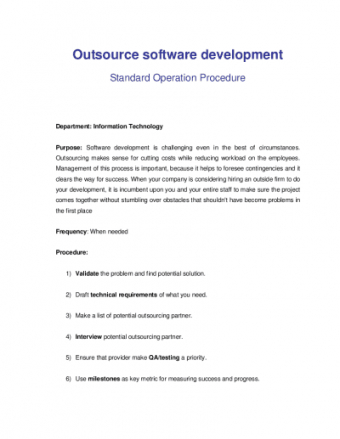 Software Development Outsourcing Contract Template Word Example