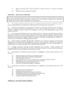 Best Company Privacy Policy Template Pdf Sample