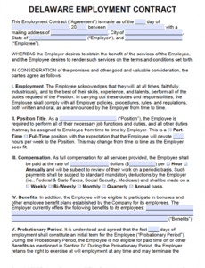 Best Employee Salary Contract Template  Sample