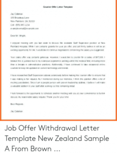Best Employment Counter Offer Letter Template  Sample