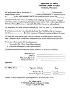 Best Housing Rental Contract Template Word Example