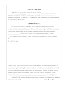 Best Land Sale Contract Template Word Example