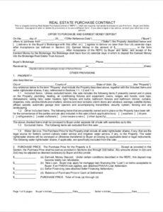 Best Property Purchase Contract Template Doc Sample