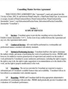 Best Software Consulting Contract Template Doc Example
