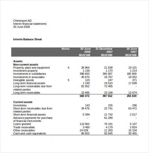 Costum Basic Income Statement Template  Sample