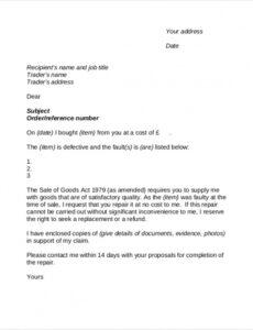 Costum Customer Service Complaint Response Letter Template Excel Sample
