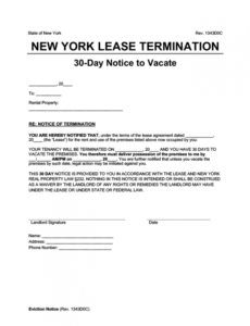 Editable 30 Day Notice Lease Termination Letter Template Doc