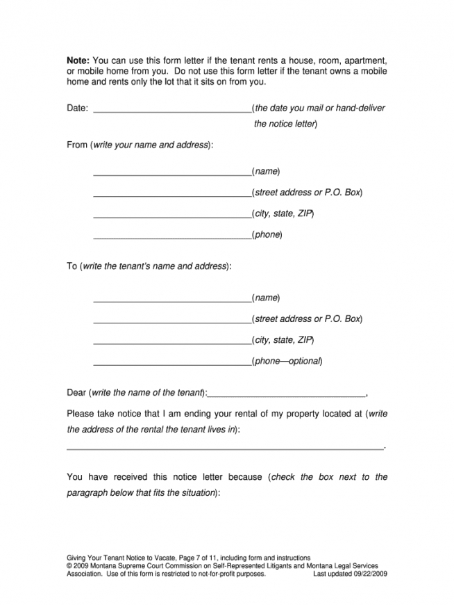 Editable 30 Day Notice Lease Termination Letter Template Excel Sample