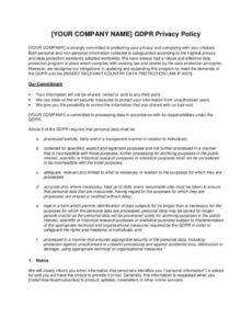 Editable Company Privacy Policy Template