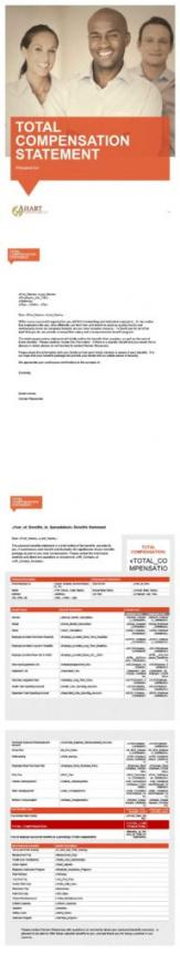 Editable Employee Total Compensation Statement Template Word Sample