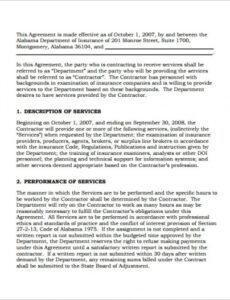 Editable It Consulting Contract Template Excel