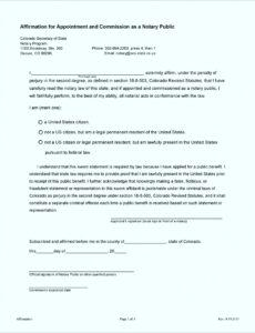 Editable Notary Statement Template Pdf Sample