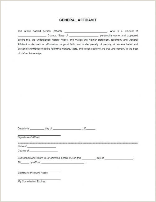 Editable Notary Statement Template Word