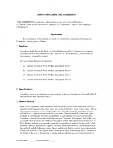 Editable Sales Consulting Contract Template Pdf Sample