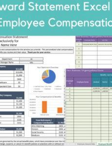 Employee Total Compensation Statement Template