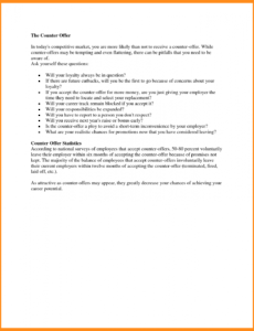 Free Employment Counter Offer Letter Template Doc