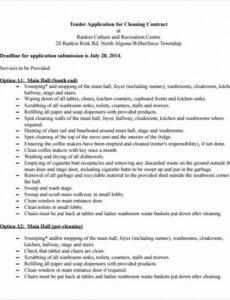 Free Janitorial Service Contract Template Doc