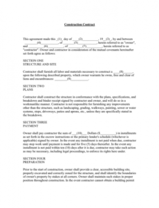 Free Landscape Installation Contract Template  Sample
