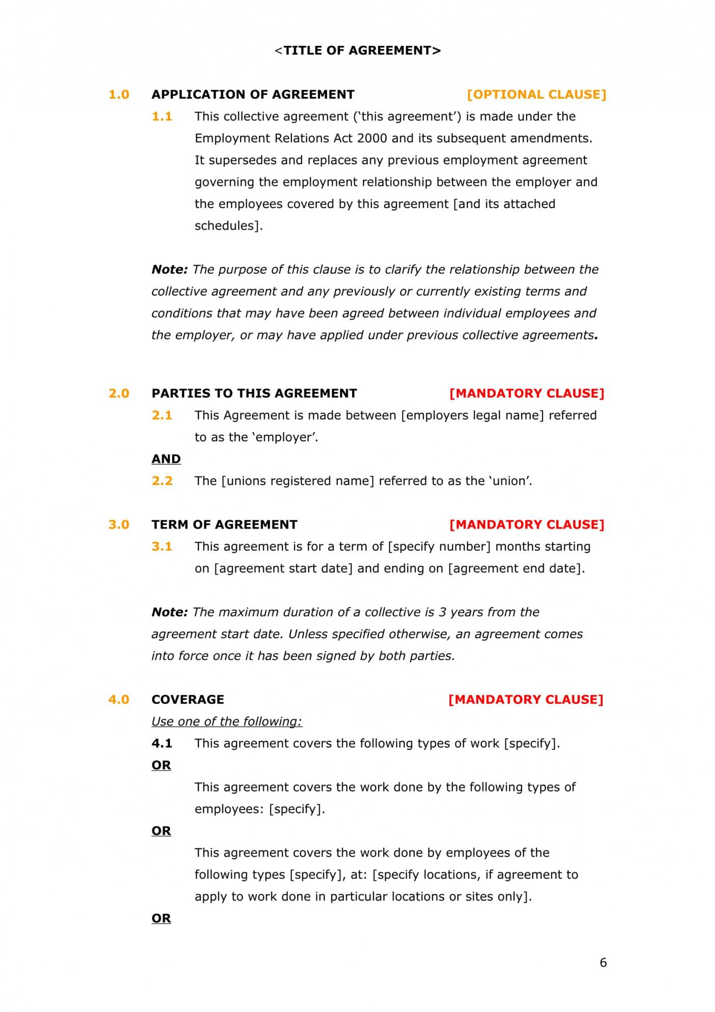 Free Management Employment Contract Template Word Example
