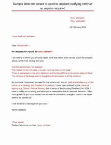 Free New Landlord Letter Template Pdf Example