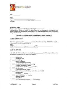 Free Project Management Consulting Contract Template Word Sample
