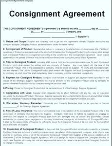Free Supplier Contract Template Doc
