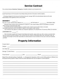 Free Terms Of Service Contract Template  Example