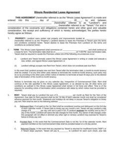 Housing Rental Contract Template  Example
