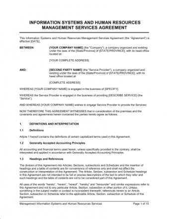 Managed Service Provider Contract Template Pdf Example