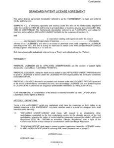 Printable Exclusive Rights Contract Template Doc Example