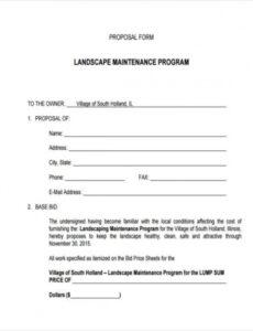 Printable Landscape Installation Contract Template