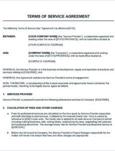 Printable Managed Service Provider Contract Template Pdf Example