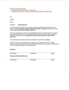 Printable Official Warning Letter Template