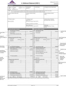 Printable Real Estate Closing Statement Template  Example