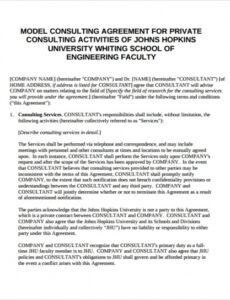 Printable Software Consulting Contract Template Pdf