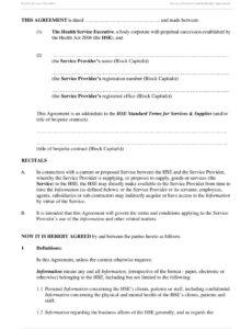 Printable Warranty Statement Template  Example