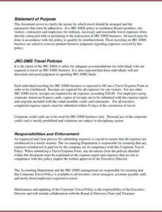 Professional Corporate Credit Card Policy Template Pdf