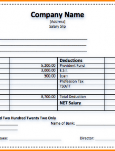 Professional Employee Salary Contract Template Excel Sample