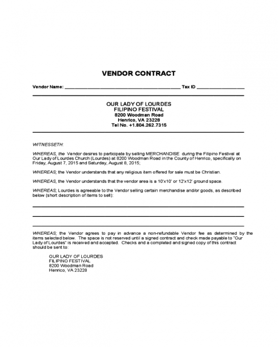 Professional Supplier Contract Template  Sample