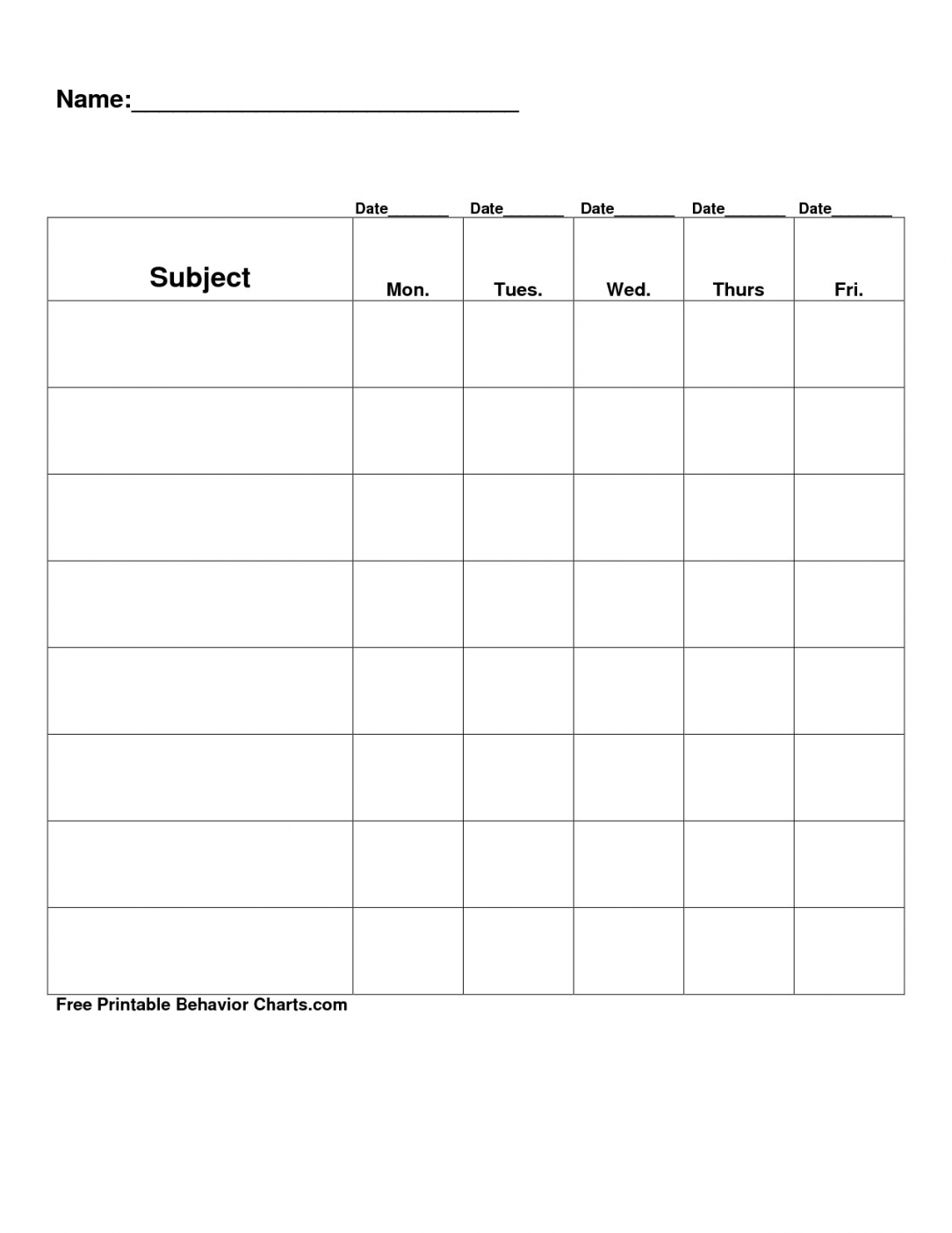 Best Behavior Contract Template For Elementary Students Pdf Sample