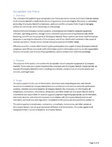 Best Cyber Security Policy Template Doc Sample