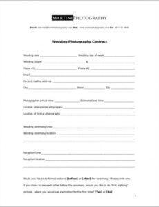 Best Event Photography Contract Template