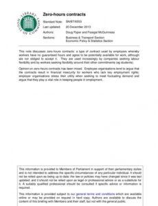 Best Hourly Employee Contract Template Doc Sample
