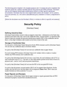 Costum Cyber Security Policy Template Pdf Example