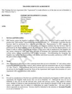 Costum Dog Training Contract Template Pdf Example