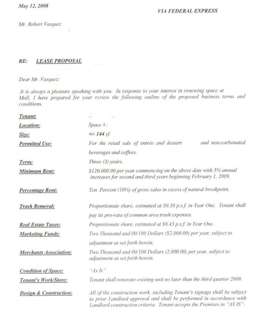 Costum End Lease Letter Template Word Example